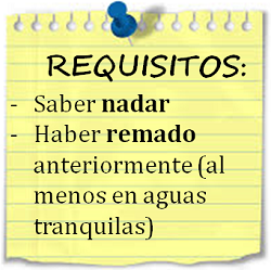requisito piraguas