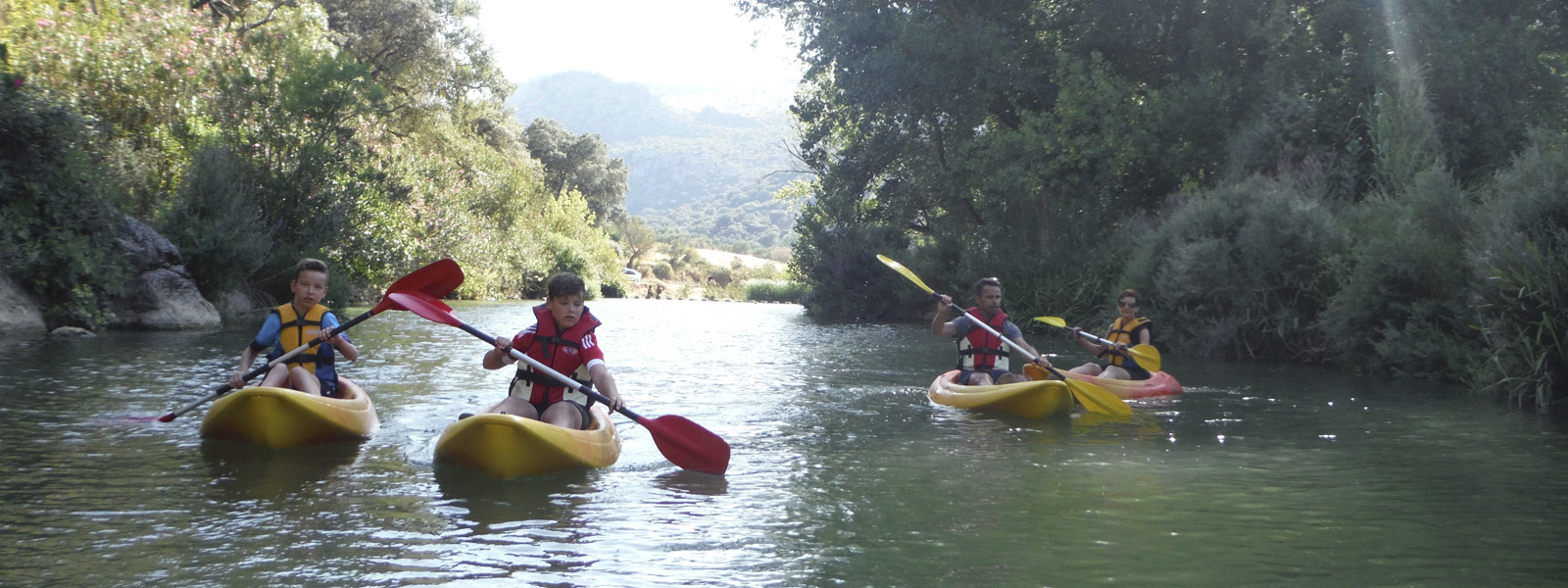 Ofertas especiales Descenso en Kayak Malaga